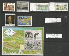 Aland - Finland, Postage Stamp, #57, 59-63, 58 Mint Nh, 1989-92 Sports, Soccer