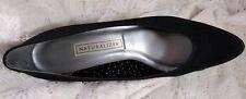 "Vintage Naturalizer Black Satin Heels/Pumps Size 8.5 1980's Heel 2-2 1/2"""