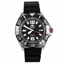 Orient DV01003B Men's M-Force Automatic Black Dial Black Rubber Strap Power Rese