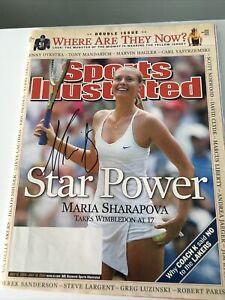 Maria Sharapova Signed Sports Illustrated 7/12/04 No Label Tennis Open /LOP