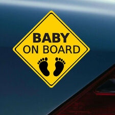 1 Piece Reflective Baby on Board Footprint Warning Car Sticker Window Tail Decal