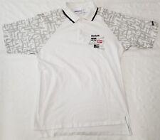 Reebok tennis polo shirt men sz M vintage 90s
