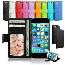 Leather Wallet Credit Card Holder Case Flip Cover for Apple iPhone 7 6s 8 Plus X