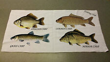 Carp family Angling hand towel personalised with name or club