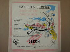 LP 10 KATHLEEN FERRIER songs of the british isles