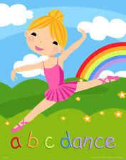 Ballet Dance Children's Kids Room Poster Art Dancing Equipment Shoes  MVP262