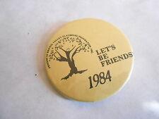 Cool Vintage 1984 Friends of Bristol Valley Playhouse Foundation Member Pinback