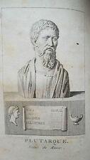 PLUTARQUE Les vies des hommes illustres 15/15 1811