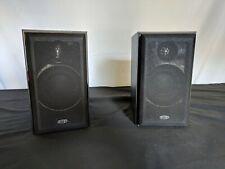 KEF C1 Bookshelf Speakers -  Black Ash - Decent Condition - Vintage KEF