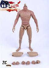 ZC Toys 1/6 Scale Muscular Nude Figure Body ver 2.0 TTM19 Fit Wolverine Head