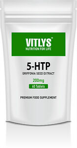 5HTP 200mg 60 Tablets Serotonin Sleep Aid Anxiety Stress Depression Support
