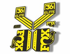 FOX 32 Elite Performance 2017-18 Fork Suspension Factory Decal Stickers Yellow