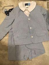 Great Guy Boys size 4T Seersucker Jacket Shorts Dress Shirt Bowtie Outfit NWOT