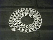 MENS HEAVYWEIGHT STERLING SILVER FINE QUALITY CURB LINKED NECK CHAIN..81.8g !!!