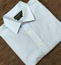 Ralph Lauren Diseñador Camisa Azul Talla 16.5/42 Collar ex condición usada