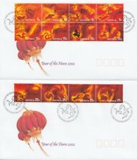 Christmas Island 2002 Year of the Horse FDC's