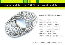 Heavy Soldering-180℃(degree C)low melt temperature solder wire,1mm(Dia.),~8m len
