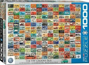 Eurographics 1000 Piece Jigsaw Puzzle - Volkswagon Groovy Bus EG60000783