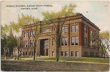 Science Building at Kansas State Normal School in Emporia KS Postcard 1909