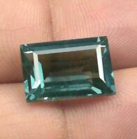 AAA 7.95 Ct Natural Transparent Indicolite Blue Green Tourmaline Loose Gem-1498