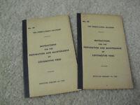 Lot of 2 Vintage 1944 Booklete PRR Instructions Prep and Maint Locomotive Fires