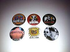 6 Sublime pin Button badges Robbin the hood 40 oz Badfish Lou Dog Bradley Nowell