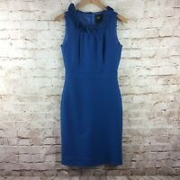 J. Crew Suiting Womens Blue Wool Blend Sleeveless Zip Up Dress Size 0