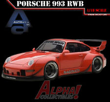 AUTOART 78153 1:18 PORSCHE RWB 993 RED/GREY WHEELS SUPERCAR