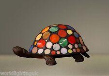 Stunning High Quality Multicolour Turtle Tortoise Tiffany Lamp / Table Lamp