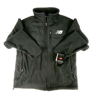 New Balance Men's Full-Zip Fleece Jacket Size Medium Black RN130893