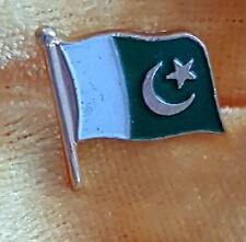 SMALL PAKISTAN FLAG BADGE BROOCH PIN - for HAT, TIE or SUIT LAPEL