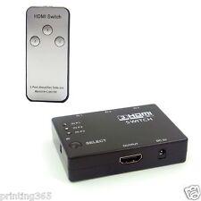 3x1 puerto HDMI conmutador/conmutador, HDMI 1.3b, cambia a 3d hasta Full HD 1080p