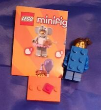 GENUINE LEGO MINIFIGURE SERIES 18 BLUE  BRICK COSTUME GIRL Mint condition