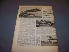 VINTAGE..MORANE SAULNIER 35 EP-2..STORY/HISTORY/3-VIEWS..RARE! (631H)