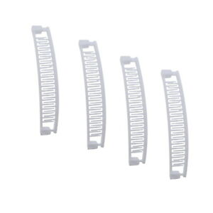 4 Banana Clips Four Small Girls White 5 Inch Banana Comb Hair Accessories