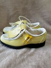 New listing Vintage Footjoy Greenjoy Golf Shoes Spikes Cleats Women's Size 5 Made In USA