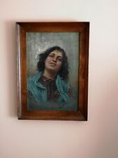 Oil On Canvas - 'Young Girl', Signed By Filippo Maratonio (Italian 1863-1937)
