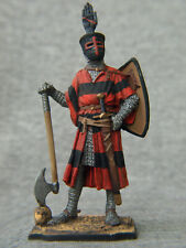 German knight hand on helmet Souvenir painting tin soldier SCALE: 1/32 54 mm
