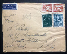 1943 Netherlands Airmail Cover To Forest Hill NY USA