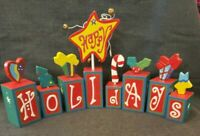 Vtg Midwest of Cannon Falls Happy Holidays Blocks Set