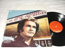 """Merle Haggard """"It's All In The Movies"""" 1976 Country LP, VG, Original Capitol"""