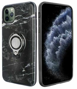 Marble Grip Ring Case for iPhone 11 Pro (5.8 Inch) with Kickstand