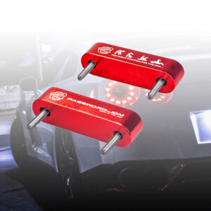 NEW Red Password JDM Hood Vent Spacer Risers 90-01 Integra / 88-15 Civic