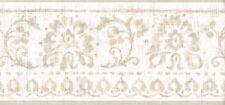 Petite Cream and Tan Wallpaper Border