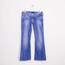 $262 True Religion Disco Joey Big T Twisted Leg Seam Flare Stretch Jeans 27 29.5