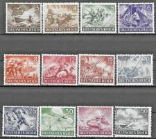 Germany Third Reich Mi# 831-842 MNH Armed Forces and Hero's Day 1943  **