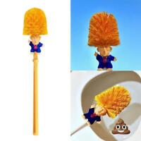 Donald Trump Toilet Brushes Funny Gag Gift Groove Sink Bowl Brush Hand Made Toy