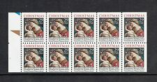US 2871, 1994 29c MADONNA, UNF PANE, MNH, BROWN AND PART OF BLUE TAB (ID4248)