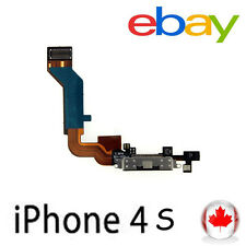 New Black Replacement Dock Port /USB Charging Connector Flex Cable for iPhone 4S
