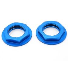 Hot Racing WHM2306F Blue Flanged 23mm Lock Nut (2)